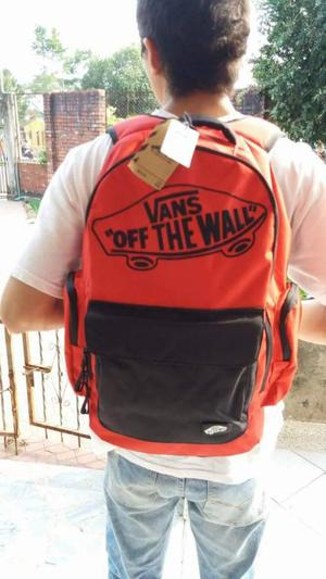 Bolso vans off the wall, vans rojo