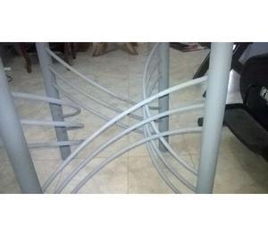 Mesa de comedor redondo con vidrio posot class for Comedor redondo de vidrio 4 sillas