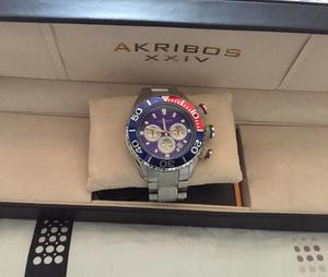 Reloj Akribos Ak512Bu Como Nuevo