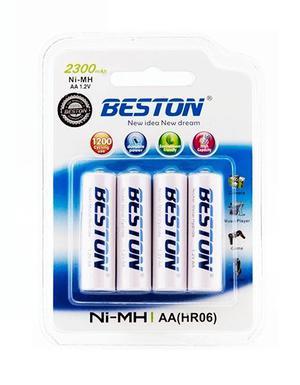 Pilas Beston Aa X 4 De mah Baterías Recargables Nimh