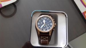 9c9d3a3d8459 Reloj fossil jr blanco plata hombre original