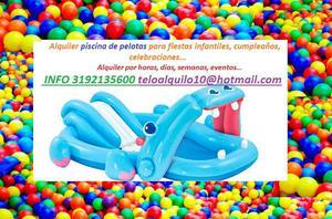 Alquiler piscinas inflables para fiestas