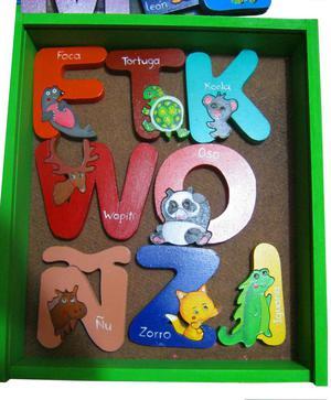 Novedoso abecedario encajable en madera
