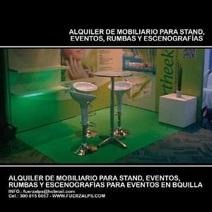 ALQUILER DE MOBILIARIO PARA STAND PARA EVENTOS -
