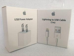 Cargador Apple Iphone 5 6 6s Original Cable + Adaptador