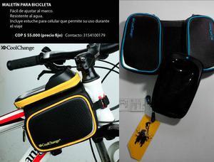 Maletín Para Bicicleta Con Estuche Para Celular.