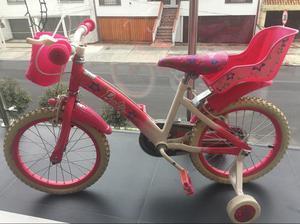 Bicicleta Barbie para Niña Pequeña