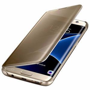 Estuche Samsung Galaxy S7 Edge Clear View Gold