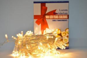 Luces Navideñas X 100 Bombillos Led Blanco Calido T