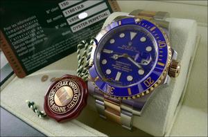 Rolex Submariner Original Oro Y Diamante