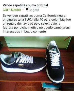 Vendo Zapatillas Originales Puma Nuevos