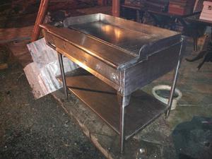 Campana en acero inoxidable y plancha a gas2 posot class - Plancha de acero inoxidable precio ...