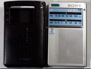 Radio Sony Tipo Tarjeta Am/fm Y Tv 1 Y Tv 2