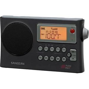Sangean Pr-d4w Radio Portátil De Am/fm/wx, Negro