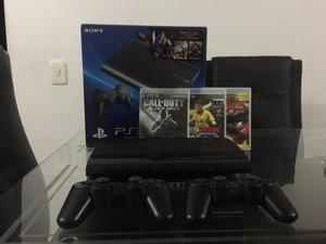 Consola Playstation 3 Super Slim 12 Gb + Disco Duro 160gb