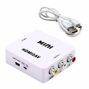 Convertidor Adaptador Hdmi A Av RCA Portatil Pc Proyector Tv