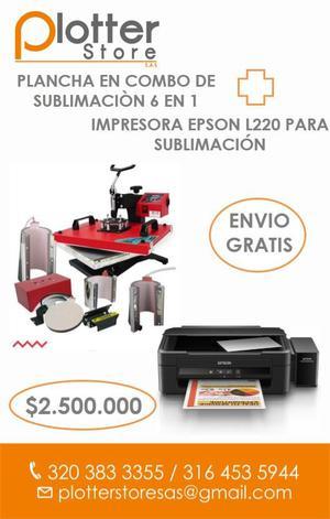 Plancha para Sublimación 6 en 1 Impresora Epson L220