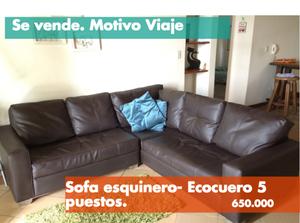 Sofa Esquinero Atlas ecocuero.