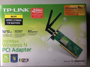 Tarjeta de red WIFI TPLINK 300Mbps PCI