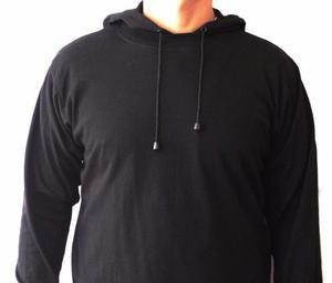 Buso Color Negro Capota Cordón Tallas S M L Xl Promoción