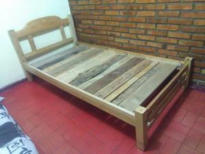 Cama semidoble x muebles bima posot class for Cama semidoble
