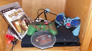 PlayStation 3 Con Dos Controles 500gb Y 2 juegos originales