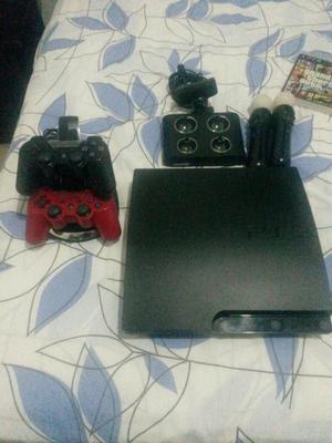 Playstation 3 Usado, con 2 Controles