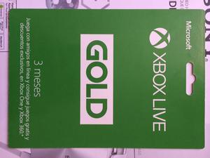 Vendo Membresía Xbox Live Gold 3 meses tarjeta fisica