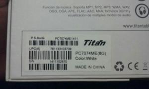 Tablet Titan Pc 7074me - Soledad