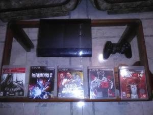 consola play 3 control generico y 5 juegos originales