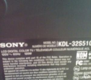 """VENDO TELEVISOR SONY LCD 32"""""""