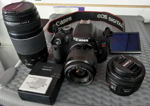 canon t3i, 18mpx, profesional kit completo, 3 lentes, 2