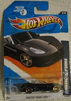 Coleccionable Hot Wheels Ferrari California Negro Más Rápi