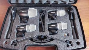 kit de microfonos para bateria shure