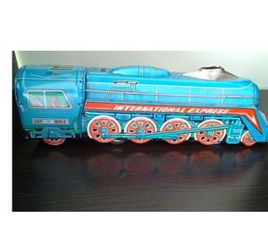 Juguete Antiguo en Hojalata Vintage Locomotora International