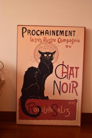 Afiche sobre retablo Chat Noir