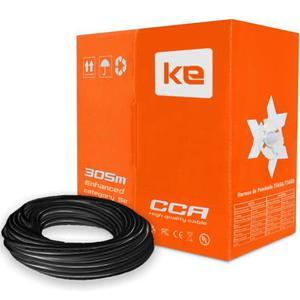 Cable De Red Utp Cat. 6e Para Exterior Miokee, Caja 305 Mts.