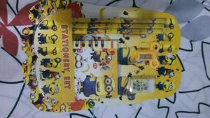 Kit Minions Colegio Lapices Lapiceros Borrador