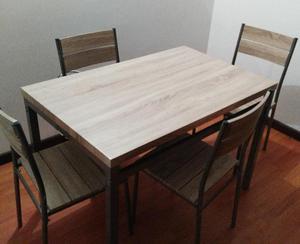 Mesa Comedor 4 Puestos