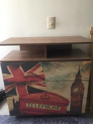 Mueble para televisor con repisas de pared posot class - Muebles de televisor ...