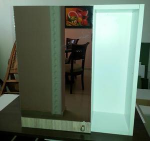 Mueble para ba o importado en madera y acero posot class - Mueble de bano de madera ...