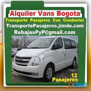 Alquiler Vans Bogota, Transporte De Pasajeros Con Conductor