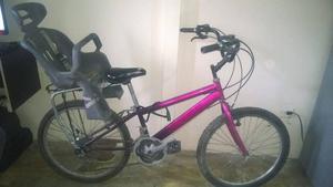 bicicleta con silla para niños