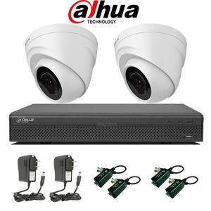 kit 2 cámaras de seguridad y accesorios