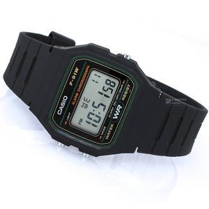 Reloj Casio F91w_3dg Resina Negro Hombre