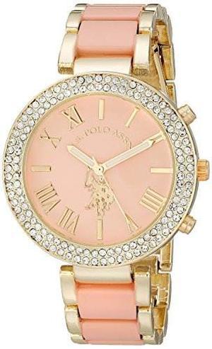 Reloj Pulsera U.s. Polo Assn. Mujer Usc Dorado Y Rosa