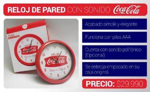 Reloj de Pared con Sonido Coca Cola - Manizales