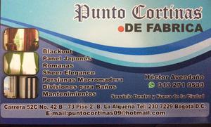 CORTINAS PUNTO CORTINAS ALQUERIA