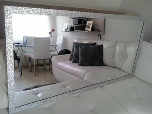 Espejo grande de lujo para sala comedor posot class for Espejos horizontales para comedor