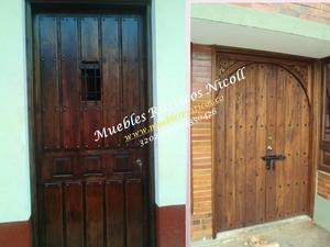 puertas portones rusticos para bogot posot class On fabrica de puertas de madera maciza